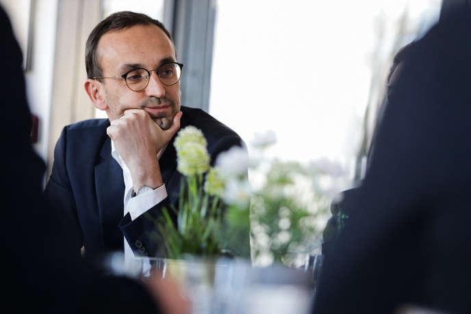 Thomas Cazenave, candidat LRM aux municipales à Bordeaux, le 6 février.
