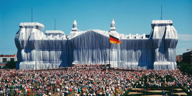 Le Reichstag de Berlin recouvert 1971-95