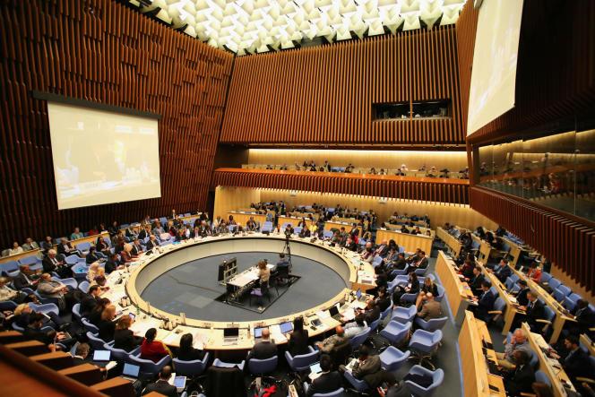 Une réunion du Conseil exécutif de l'OMS, le 6 février.