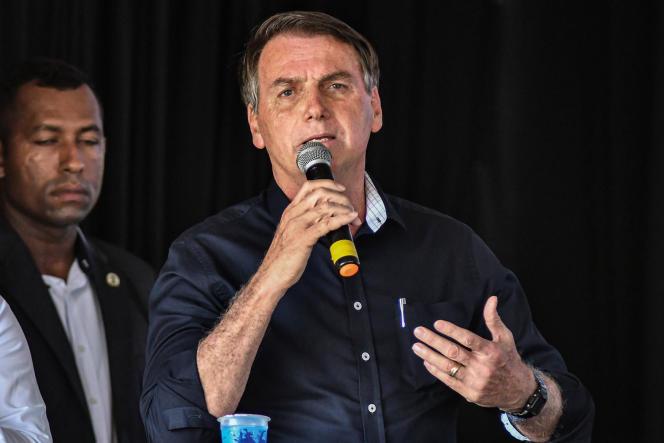Jair Bolsonaro, le 15 janvier, à Brasilia.