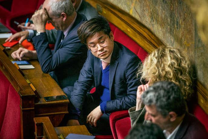 Représentant des Français établis en Suisse et au Liechtenstein, Joachim Son-Forget (ici, le 20mars2018, dans l'Hémicycle) multiplie les frasques.