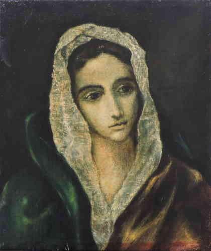 """«""""La Femme à l'hermine"""" d'après Le Greco témoigne des liens qui unissent Cézanne à ses prédécesseurs. L'Aixois admire leurs œuvres aux musées d'Aix, de Marseille et au Louvre.»"""