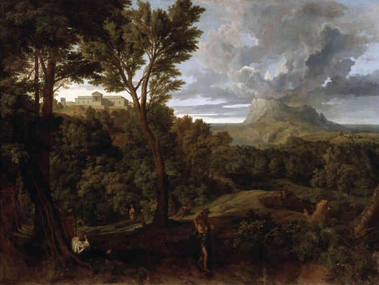 """«Entre le """"Paysage classique"""", de Millet, et """"La Montagne Sainte-Victoire"""", de Cézanne, les correspondances sont évidentes: même paysage, même composition, même sentiment de permanence.»"""