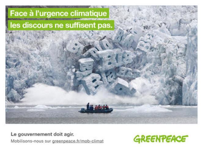 Affiche conçue par l'agence Strike pour Greenpeace.