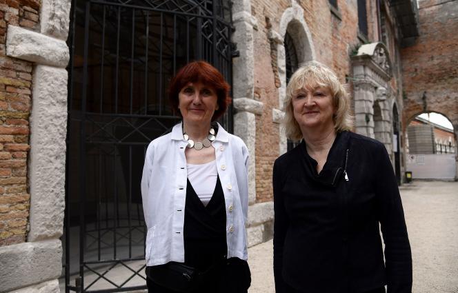Shelley McNamara et Yvonne Farrell (à droite), à Venise en mai 2018.