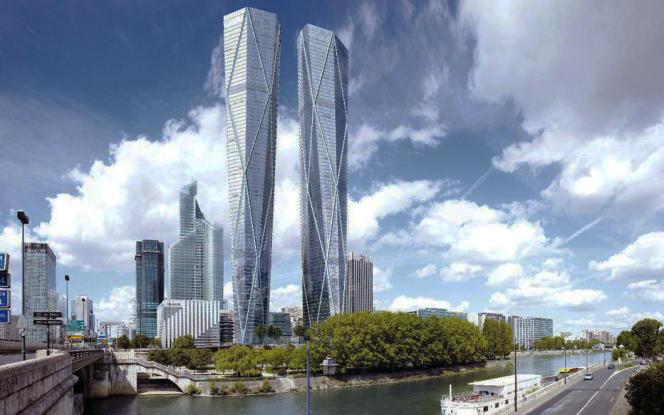 Le projet des tours Hermitagedessiné par l'architecte britannique Norman Foster.