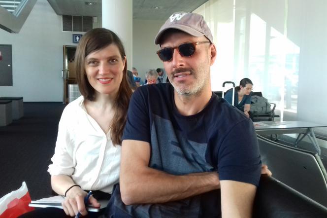 Gisèle Vienne et Patric Chiha, pendant le tournage de«Si c'était de l'amour».