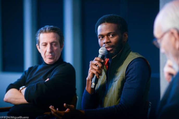 Les architectes Philippe Chiambaretta etSéname Koffi Agbodjinou, pendant la table ronde finale de la conférence du 20 février 2020 à Genève.