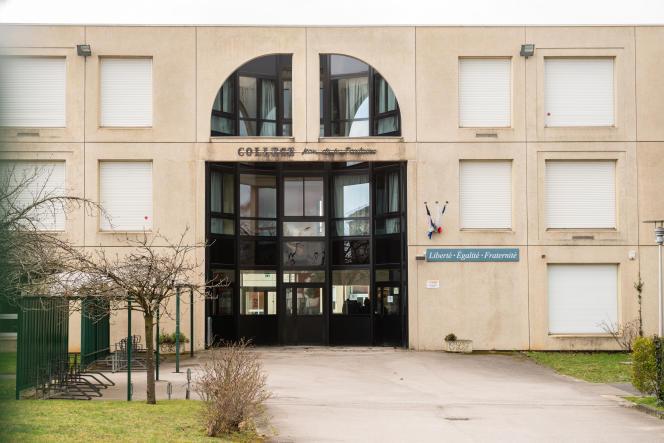 Le collège La Fontaine, à Crépy-en-Valois (Oise), le 3 mars.