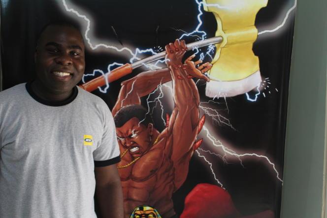 Eyram Tawia, fondateur de la société Leti Arts, à Accra en février 2020.
