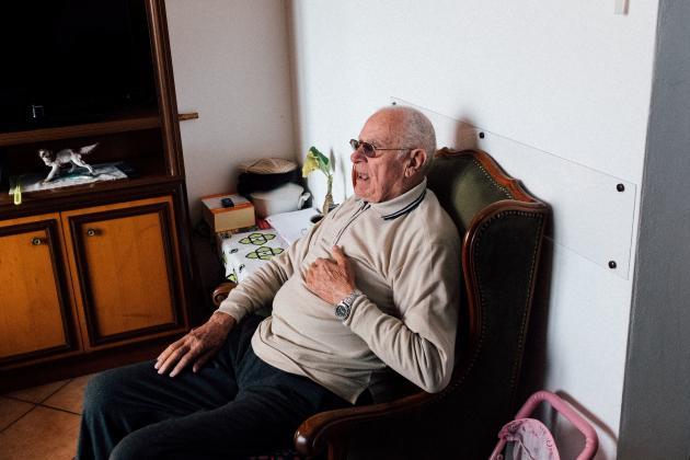 Gino Verani, le grand-père de Marzio, 87 ans, le 22 février.