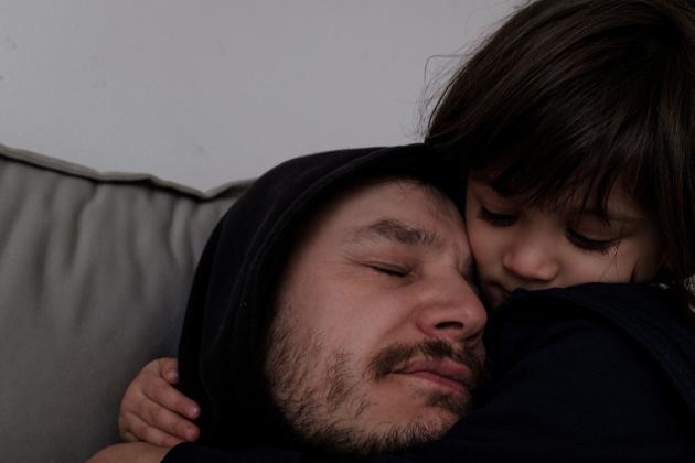 Marzio et sa fille Bianca, le 2 mars.