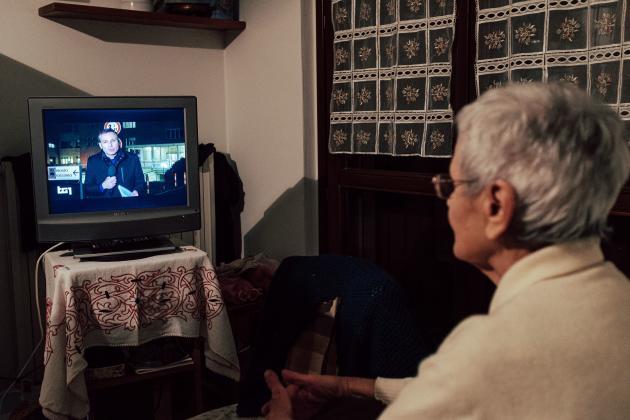 Ines Prandini, la grand-mère de Marzio, 85 ans, s'informe de la situation, le 21 février.
