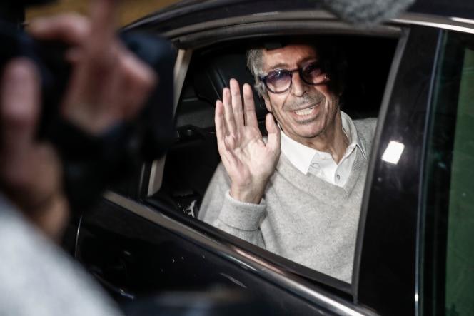 Patrick Balkany à sa sortie de prison, le 12 février 2020.