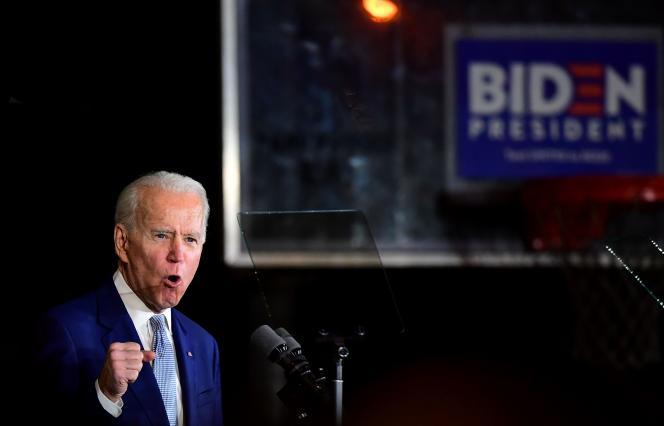 L'ancien vice-président démocrate Joe Biden lors de la soirée du Super Tuesday, à Los Angeles, le 3 mars.