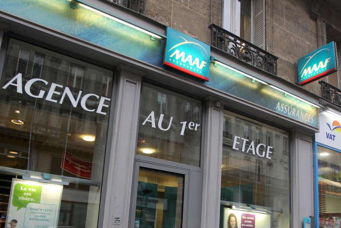 Une agence MAAF, propriété de Covéa, en 2011, à Paris.