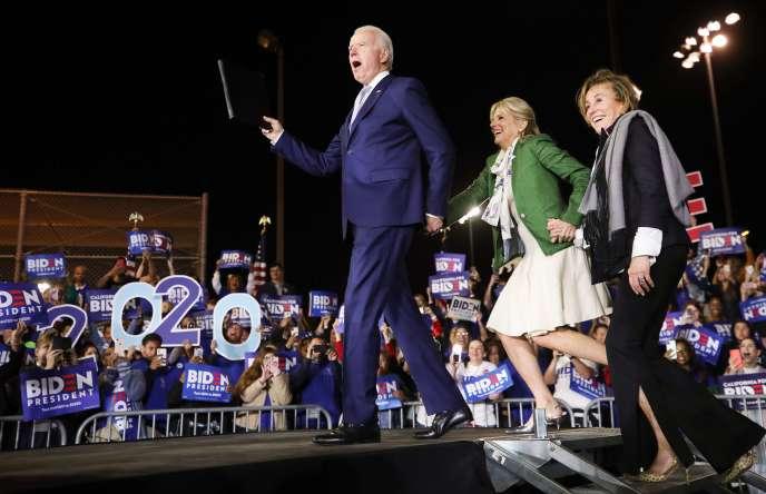 L'ancien vice-président Joe Biden, à Los Angeles (Californie), le 3 mars 2020.