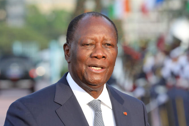 Le président ivoirien Alassane Ouattara à Abidjan, le 21 décembre 2019.