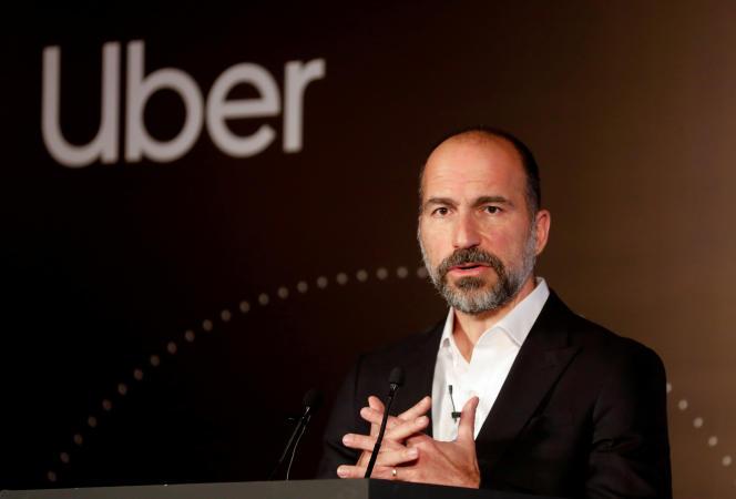 Le patron d'Uber, Dara Khosrowshahi, à New Delhi, en octobre 2019.