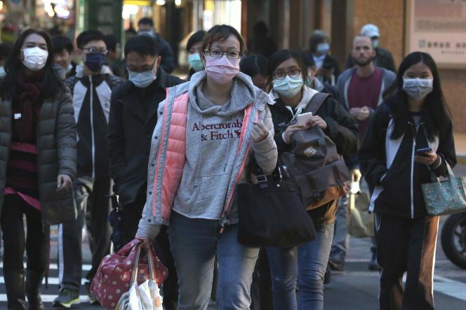 Dans les rues de Taipei, à Taïwan, le 5 mars.