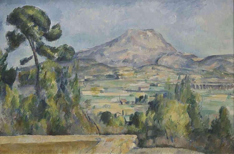 «Pourtant, leurs démarches diffèrent, l'ancien [Millet] peint dans le secret de son atelier une nature fantasmée, le moderne [Cézanne] peint un paysage bien réel. Il peint sur le motif dans une atmosphère baignée de lumière, d'où sa palette claire et nouvelle.»