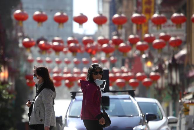 Le quartier de Chinatown à San Francisco, le 26 février. L'économie de la ville californienne commence à être sévèrement affectée par l'épidémie due au coronavirus.