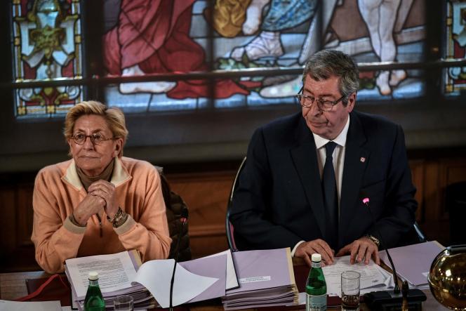 Isabelle et Patrick Balkany à la mairie de Levallois-Perret, le 15 avril 2019.