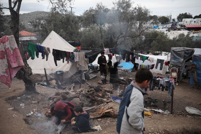 «Il s'agit de savoir si nous, citoyens d'Europe, pouvons échapper à la honte et au déshonneur» (Camp de réfugiés sur l'île de Lesbos, le 7 mars).