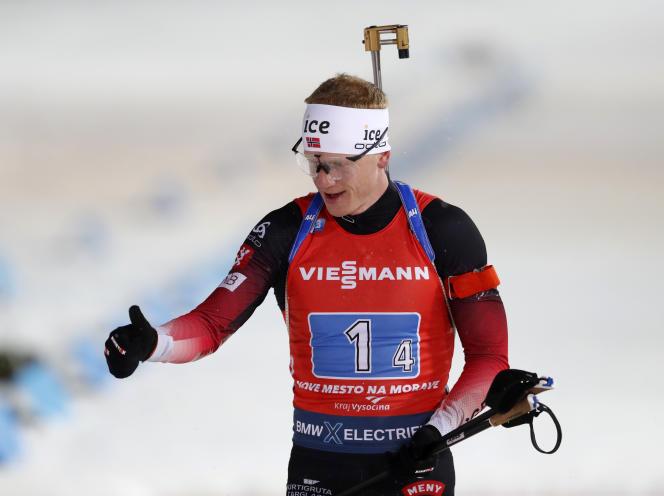 Johannes Boe, sur le relais, le 7 mars 2020.