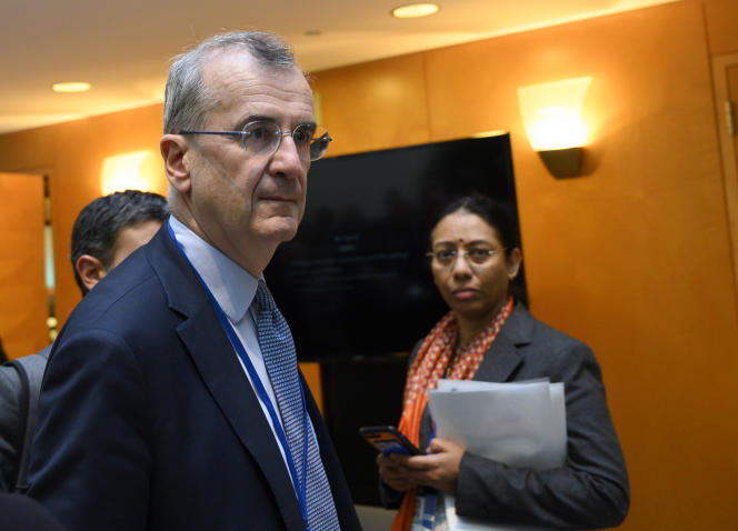 François Villeroy de Galhau, gouverneur de la Banque de France, le 18 octobre 2019 à Washington.
