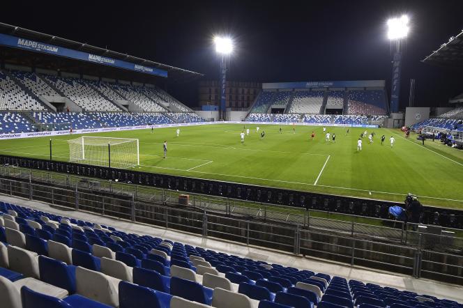 Le match Sassuolo-Brescia s'est joué à huis clos au stade Mapei de Reggio d'Emilie, lundi 9 mars.