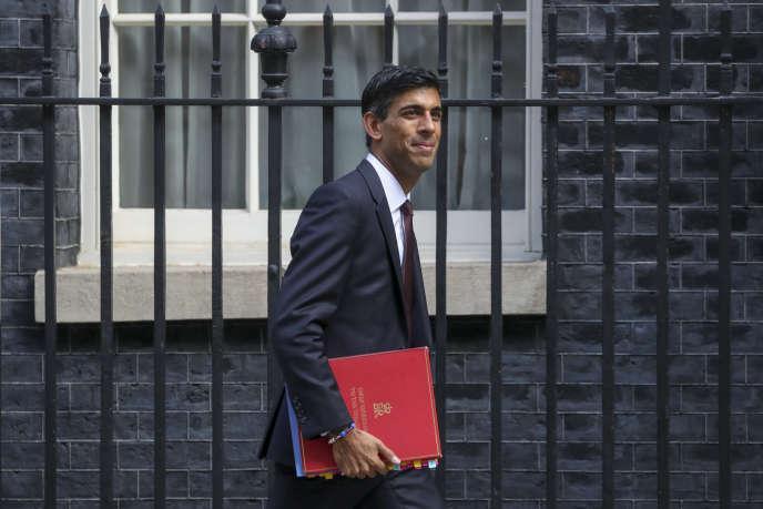Rishi Sunak devant la résidence du premier ministre britannique, le 10 septembre 2019, à Londres.
