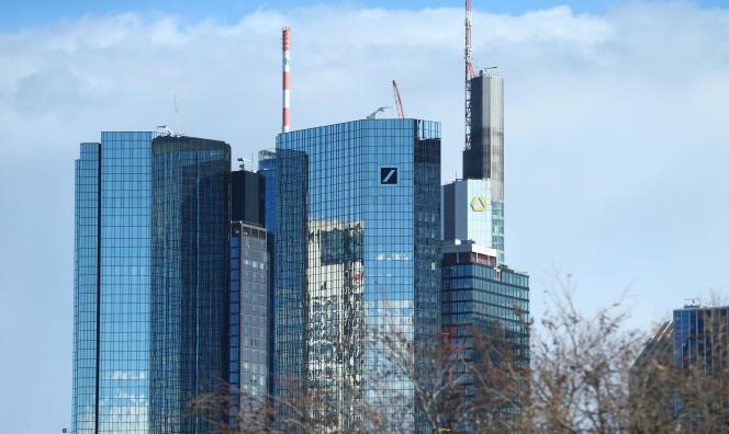 A Francfort, siège de Deutsche Bank et Commerzbank, en mars 2019.