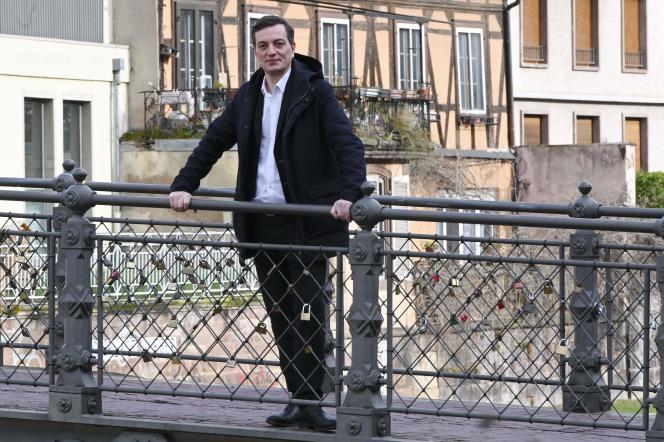 Alain Fontanel,candidat LRM, le 3 mars à Strasbourg.