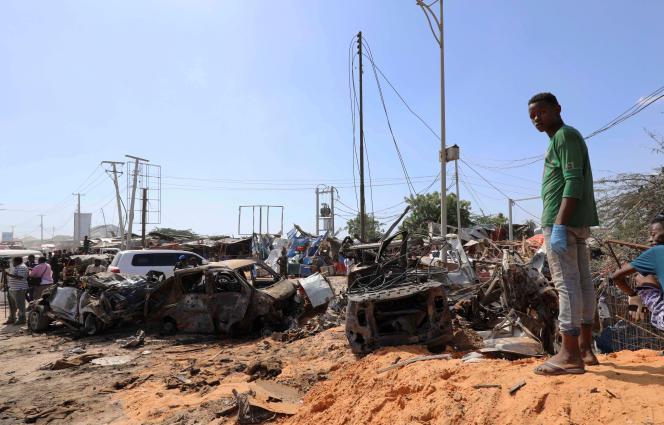 Après un attentat à la voiture piégée à Mogadiscio, le 28 décembre 2019.