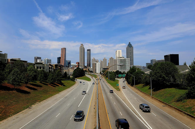 La ville d'Atlanta, aux Etats-Unis, qui fut victime d'une cyberattaque d'envergure,en mars 2018.