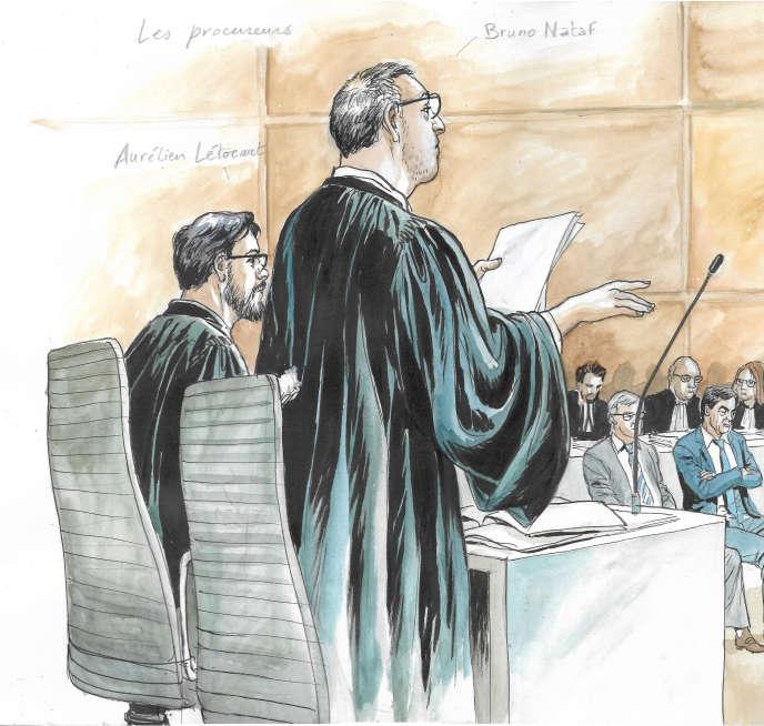 Le procureur Aurélien Létocart au tribunal de Paris le 10 mars.