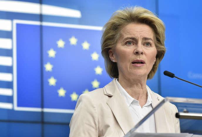 La présidente de la Commission européenne, Ursula von der Leyen, à Bruxelles, le 9 mars.