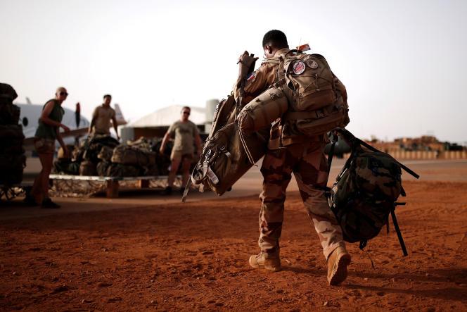 Des soldats français de l'opération«Barkhane» à Gao, au Mali, le 1eraoût 2019.