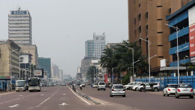 Dans le centre de Kinshasa, en décembre 2016 (photo d'illustration).