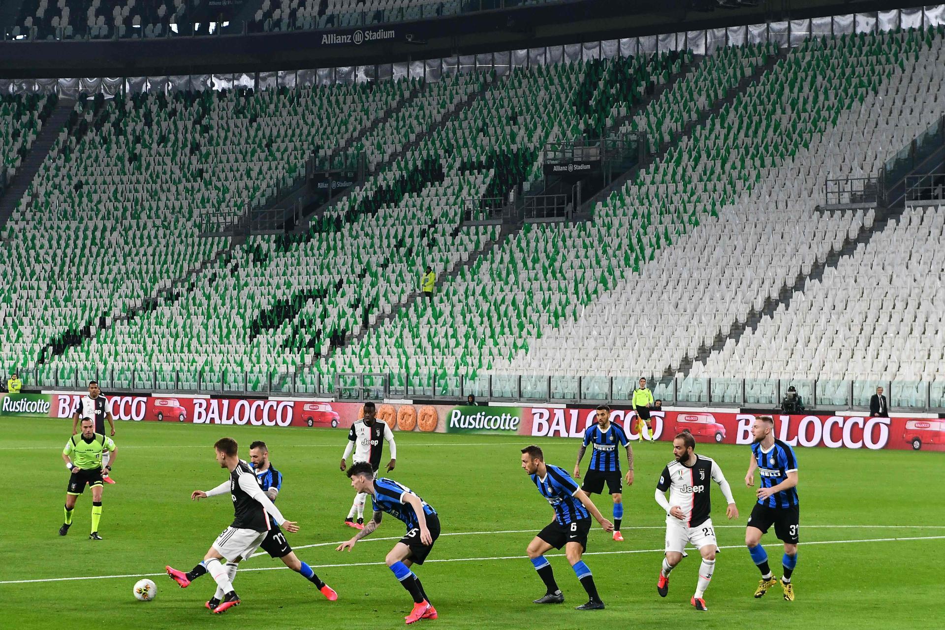 Le duel entre la Juventus Turin et l'Inter Milan s'est tenuà huis clos, dimanche 8mars à Turin.