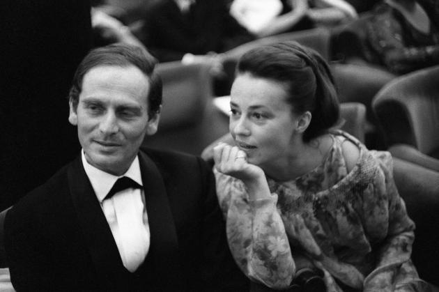 Pierre Cardin et Jeanne Moreau en 1964.