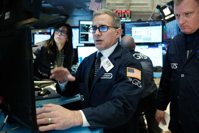 A la Bourse de New York, le 9 mars.