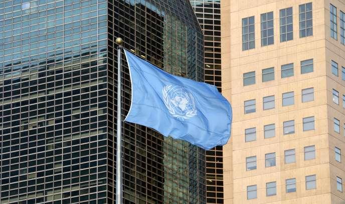 Le drapeau des Nations Unies le 23 septembre 2019 à New York.