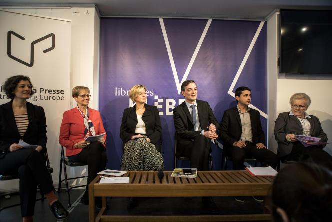 De gauche à droite: Jeanne Barseghian, Chantal Cutajar, Hombeline du Parc, Alain Fontanel, Kevin Loquais, Catherine Trautmann.