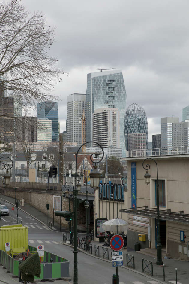 La gare de Puteaux, le 24février.