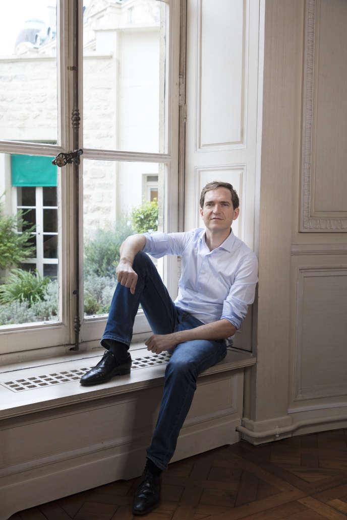 L'écrivain Fabrice Humbert, chez Gallimard, à Paris, le 14janvier.