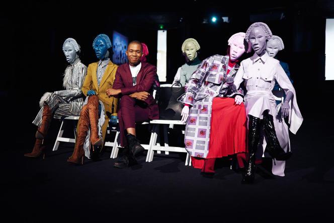 Présentation de la collection automne-hiver 2020-2021 du Sud-Africain Thebe Magugu.