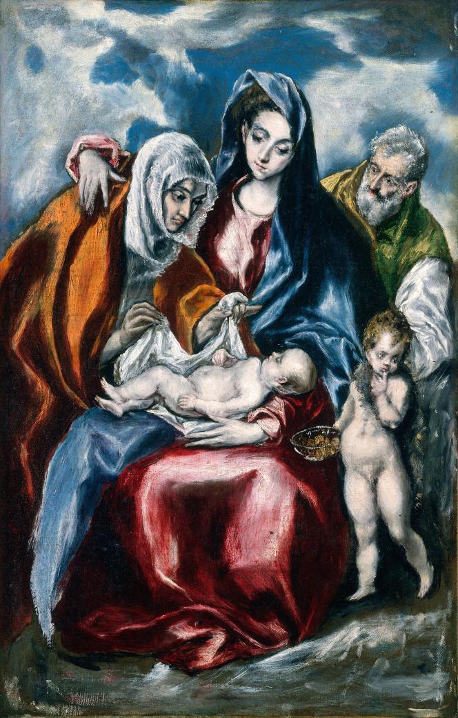 « La Sainte Famille avec sainte Anne et Jean-Baptiste», d'El Greco, vers 1595-1600.