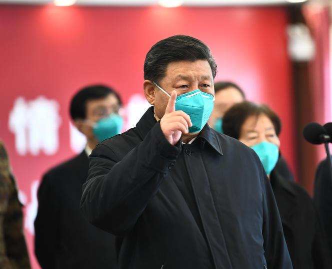 Le président chinois Xi Jinping à Wuhan, mardi 10 mars.